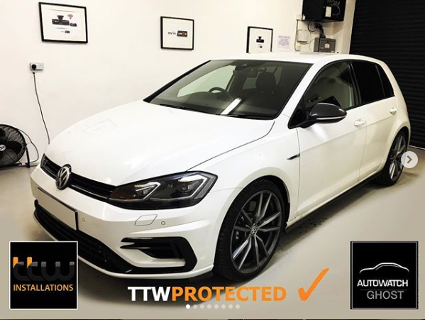 Volkswagon Golf R Autowatch Ghost 2 protected By TTW Installations