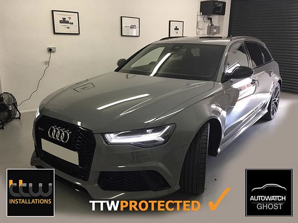 Audi RS6 Autowatch Ghost 2 protected By TTW Installations