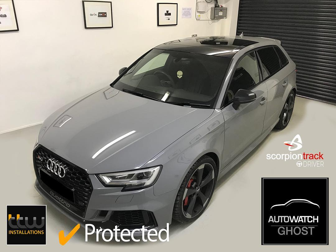 Audi RS3 Autowatch Ghost 2 protected By TTW Installations