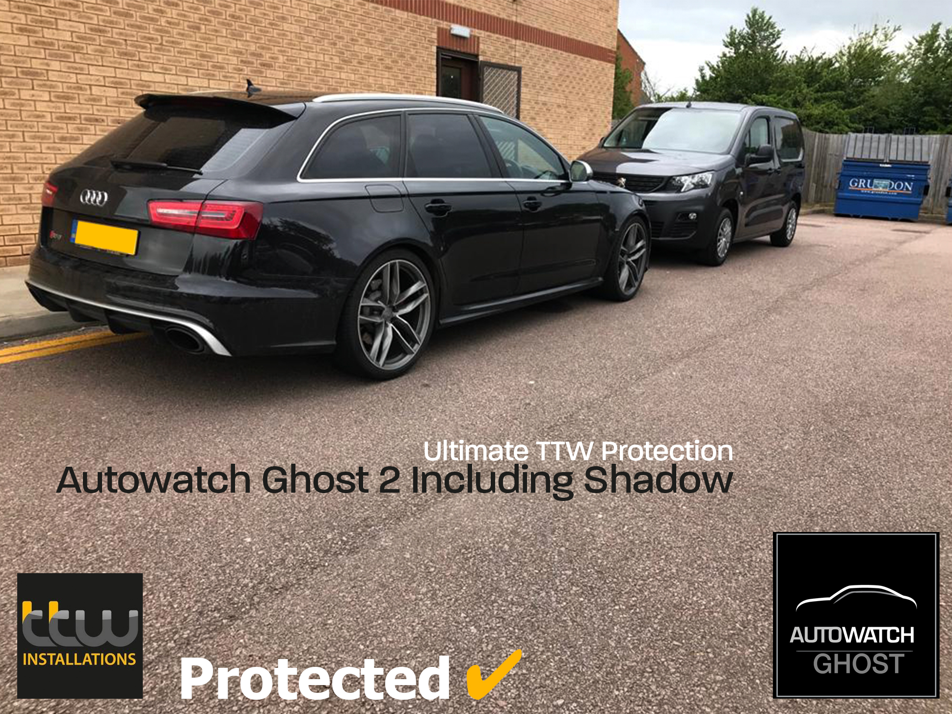 Audi RS6 -  Autowatch Ghost 2 protected By TTW Installations