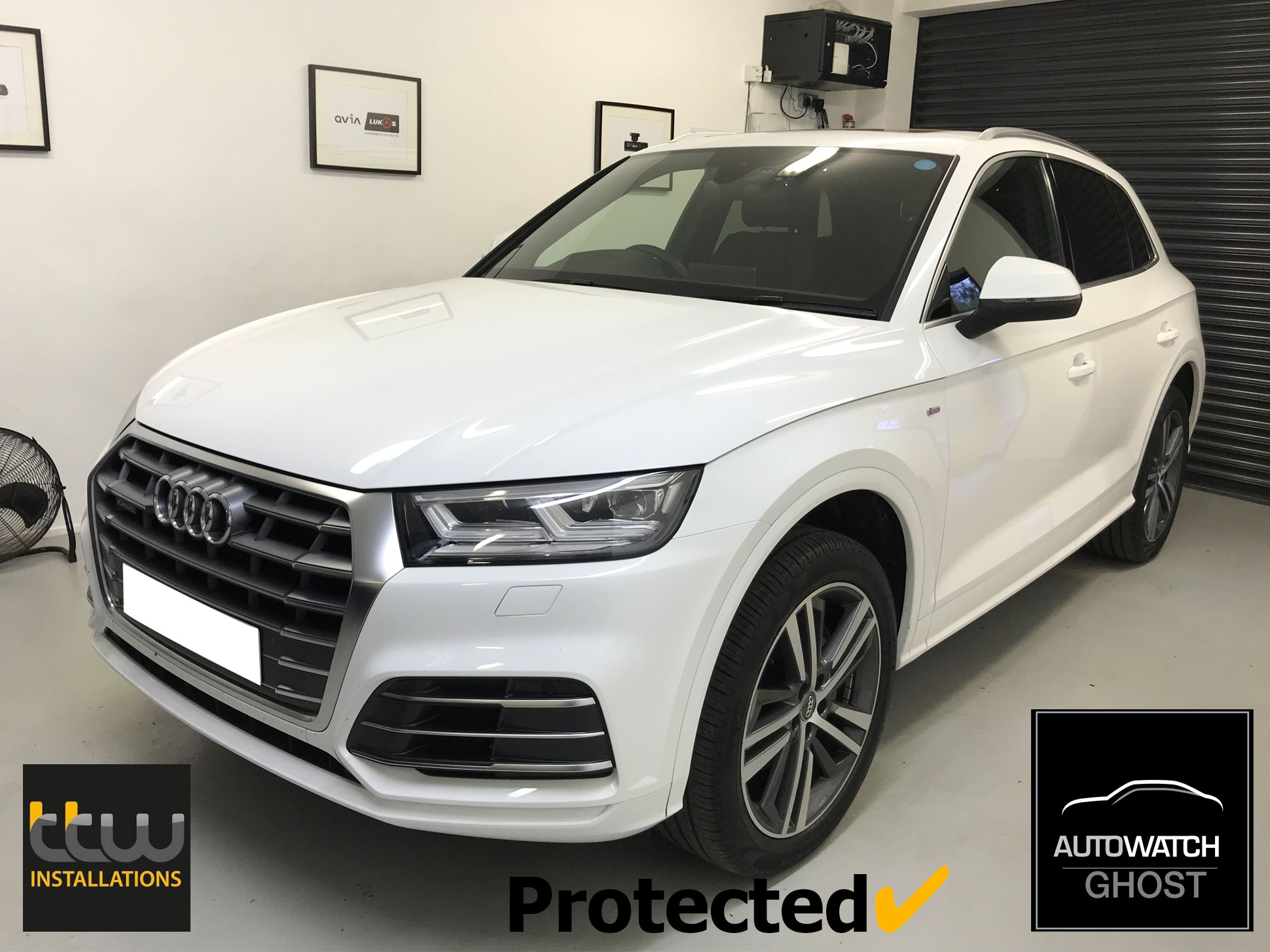 Audi Q8 Autowatch Ghost 2 protected By TTW Installations