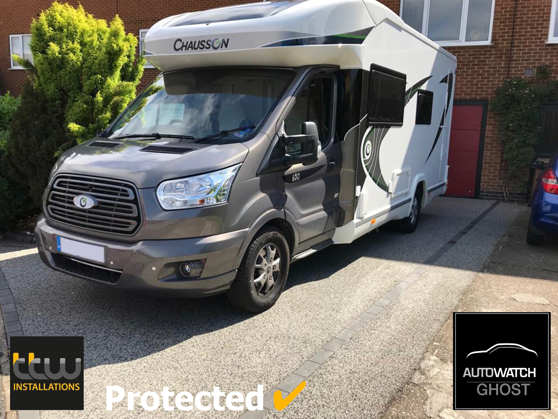 chausson-motorhome Autowatch Ghost 2 protected By TTW Installations