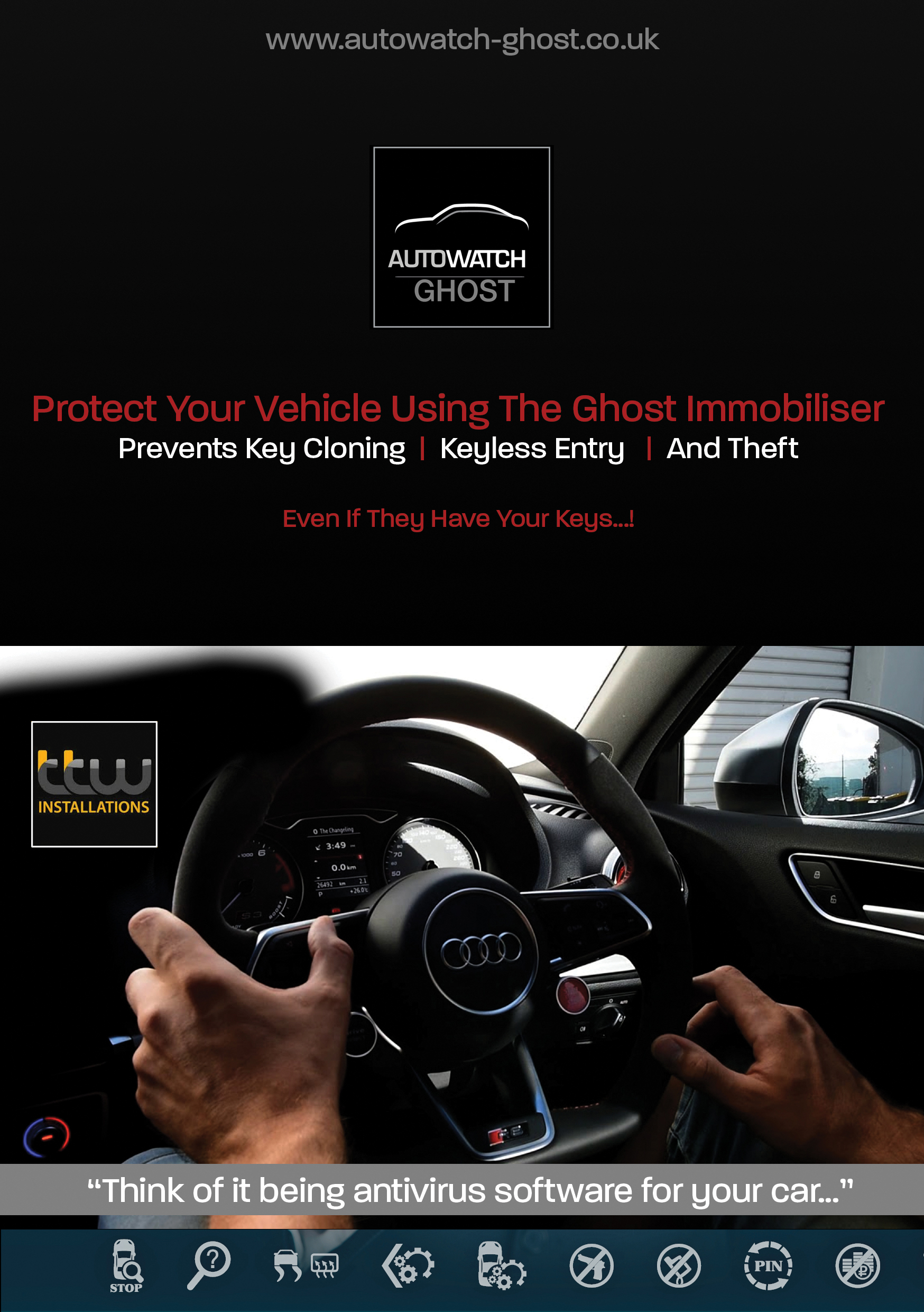 Autowatch Ghost 2 - TTW Installations - UK Installations