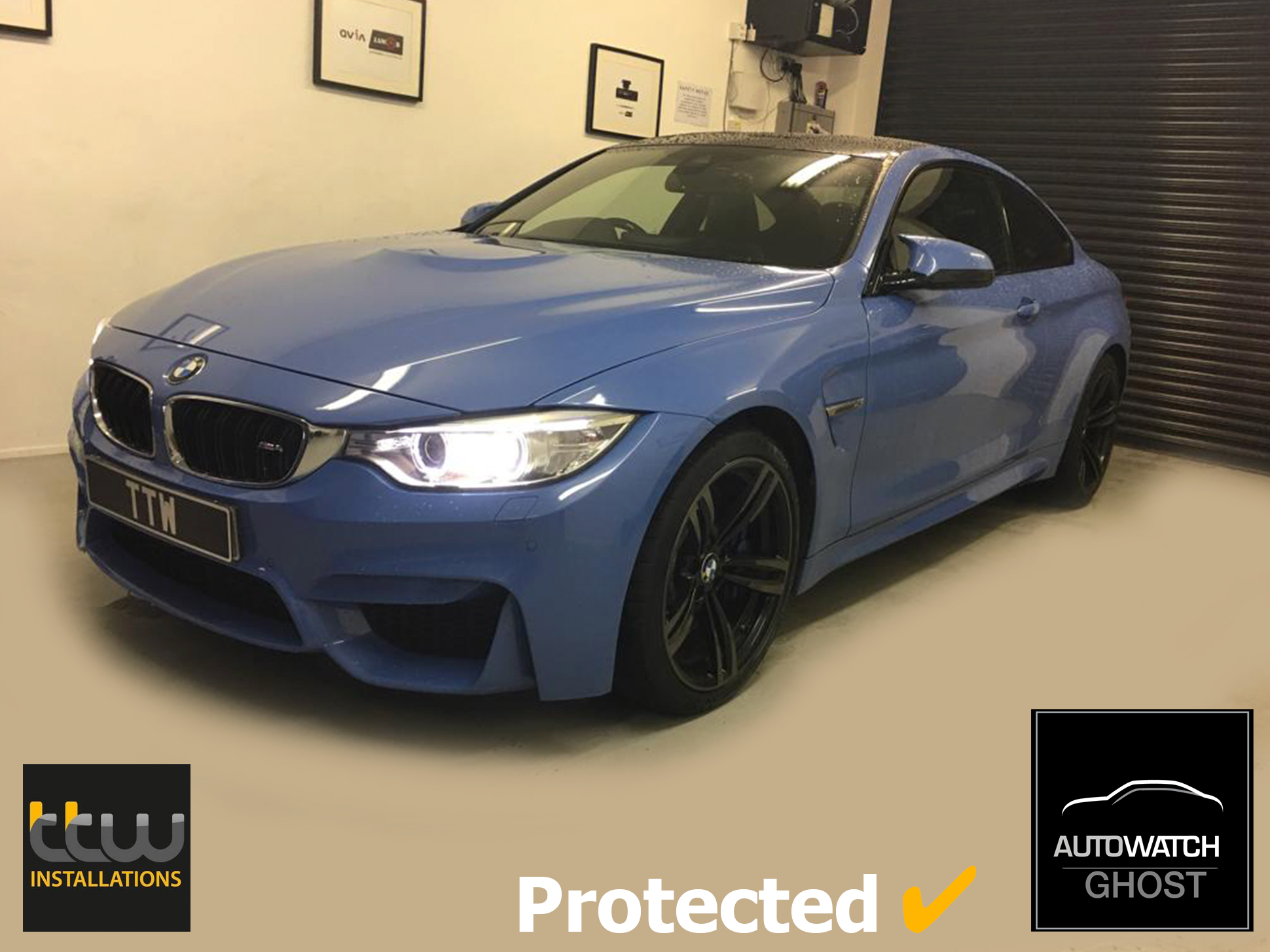 BMW M4 Autowatch Ghost 2 protected By TTW Installations