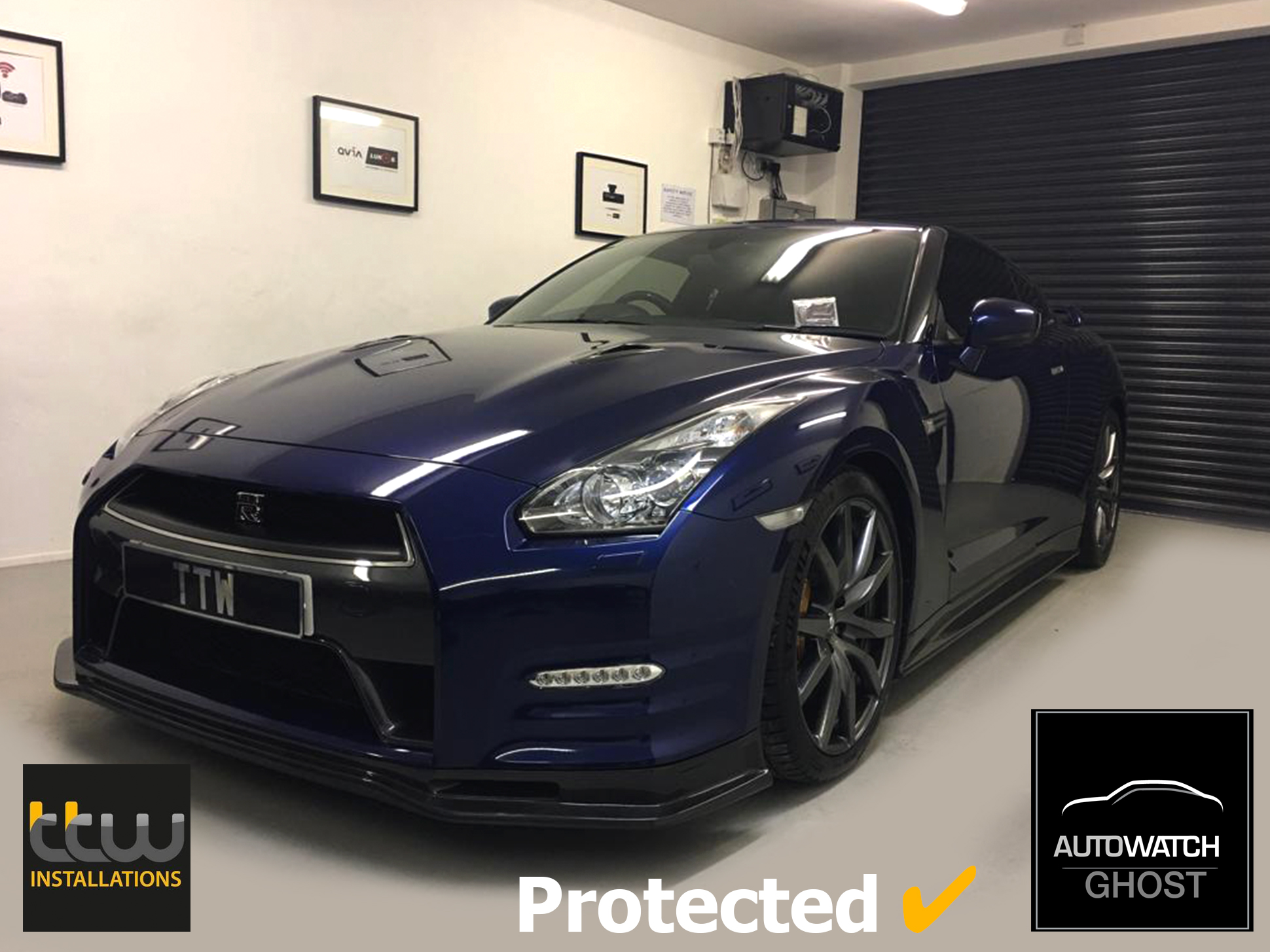 Nissan GTR Autowatch Ghost 2 protected By TTW Installations