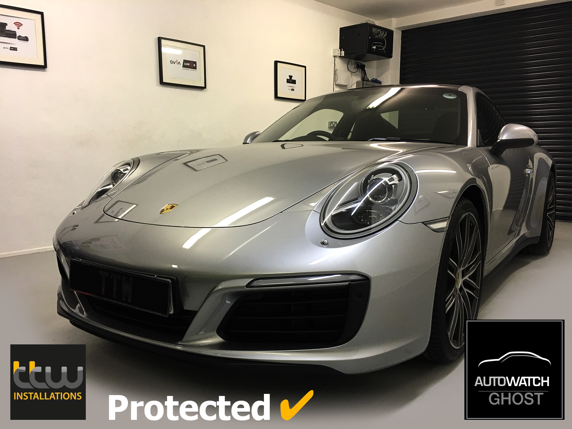 Porsche 991 Autowatch Ghost 2 protected By TTW Installations