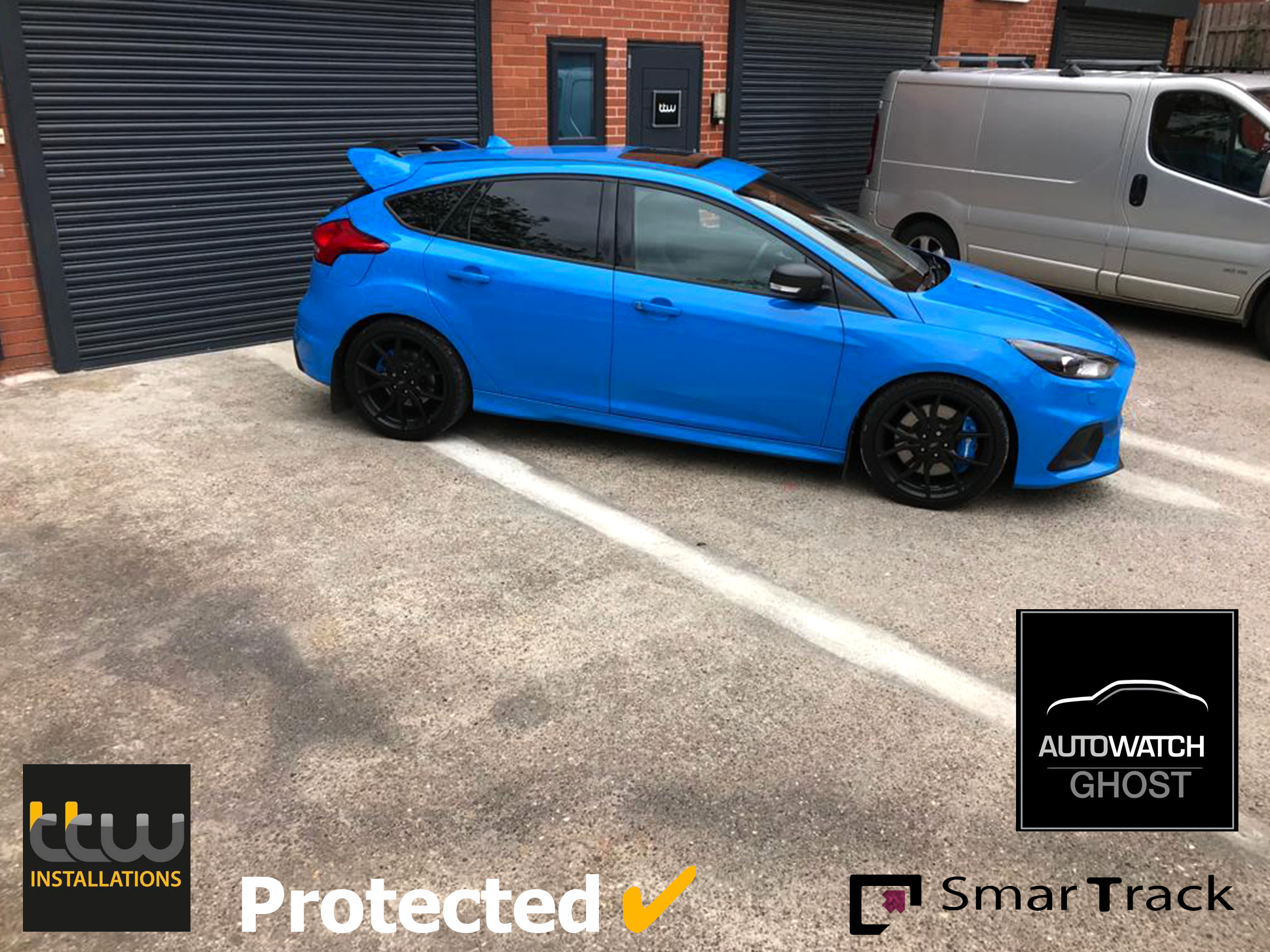 Ford Focus RS Autowatch Ghost 2 protected By TTW Installations