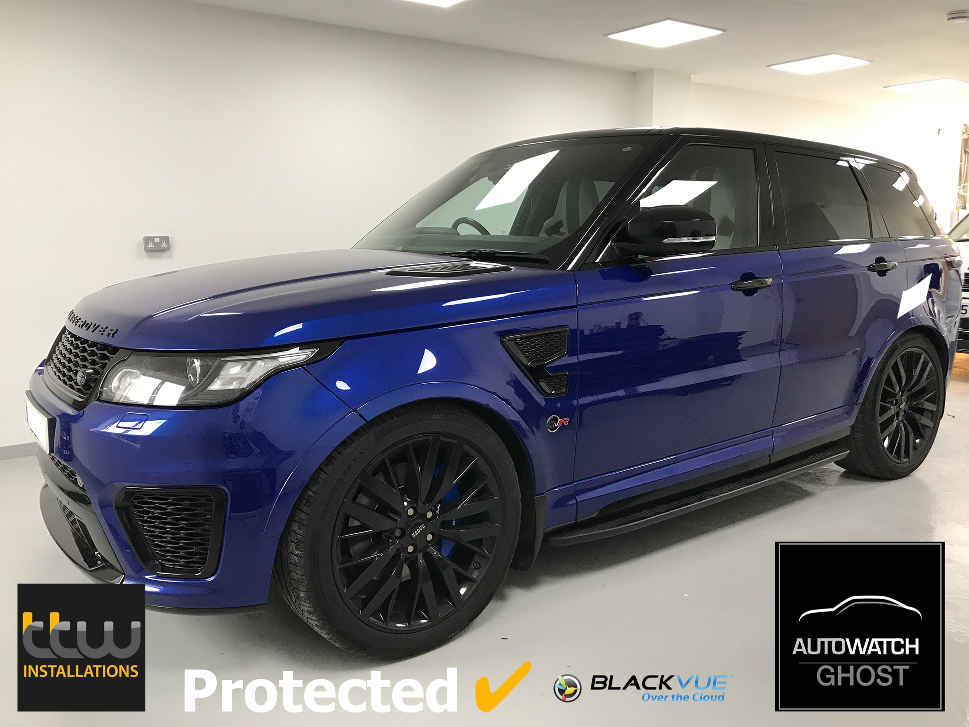 Range Rover Sport SVR Autowatch Ghost 2 protected By TTW Installations