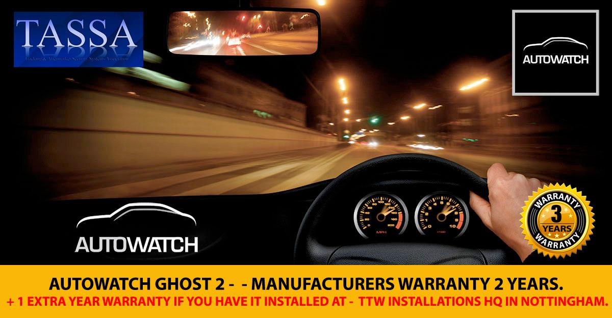 Autowatch Ghost 2 - 2 year Warranty + 1 Year TTW Warranty